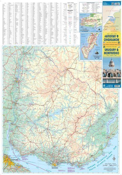 URUGWAJ MONTEVIDEO plan miasta 1:10 000 mapa 1:800 000 ITMB 2018 (2)