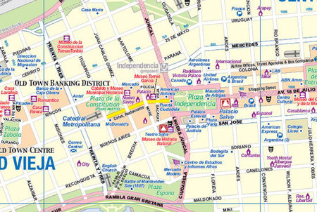 URUGWAJ MONTEVIDEO plan miasta 1:10 000 mapa 1:800 000 ITMB 2018 (3)