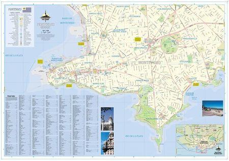 URUGWAJ MONTEVIDEO plan miasta 1:10 000 mapa 1:800 000 ITMB 2018 (4)