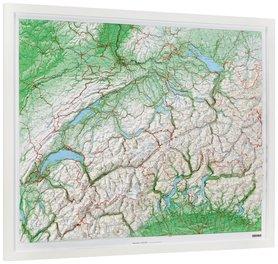 SZWAJCARIA mapa plastyczna 82 x 68 cm KUMMERLY+FREY bez ramy