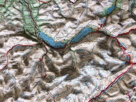 SZWAJCARIA mapa plastyczna 82 x 68 cm KUMMERLY+FREY bez ramy (2)