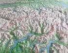 SZWAJCARIA mapa plastyczna 82 x 68 cm KUMMERLY+FREY bez ramy (4)
