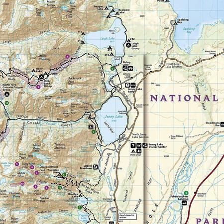 GRAND TETON NP 202 mapa wodoodporna 1:31 680 NATIONAL GEOGRAPHIC 2019 (5)