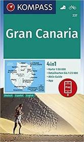GRAN CANARIA mapa turystyczna 1:50 000 KOMPASS 2019