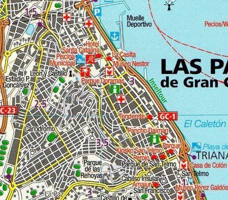 GRAN CANARIA mapa turystyczna 1:50 000 KOMPASS 2019 (3)