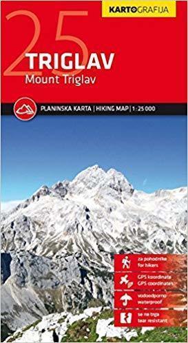MOUNT TRIGLAV wodoodporna mapa turystyczna 1:25 000 KARTOGRAFIJA