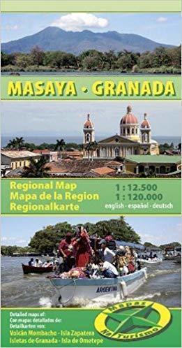 MASAYA GRANADA / NIKARAGUA mapa turystyczna 1:120 000 NATURISMO