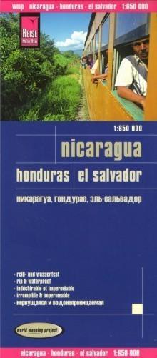 NIKARAGUA HONDURAS SALWADOR mapa 1:650 000 REISE KNOW HOW 2018