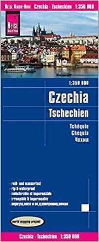 CZECHY, REPUBLIKA CZESKA mapa 1:350 000 RKH 2018