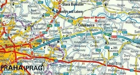 CZECHY, REPUBLIKA CZESKA mapa 1:350 000 RKH 2018 (2)