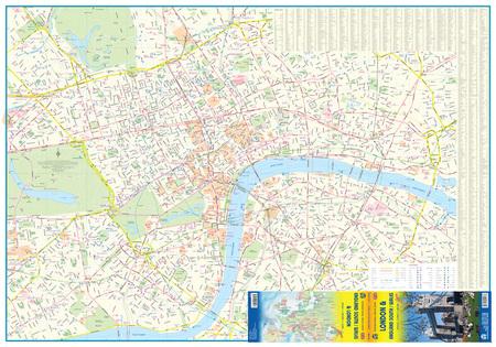 LONDYN ANGLIA PD-WSCH mapa wodoodporna 1:8 000 / 1:300 000  ITMB (2)