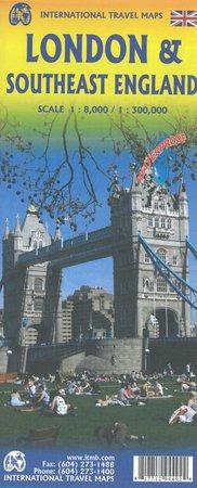 LONDYN ANGLIA PD-WSCH mapa wodoodporna 1:8 000 / 1:300 000  ITMB (1)