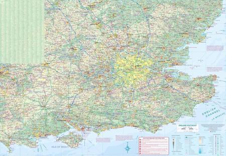 LONDYN ANGLIA PD-WSCH mapa wodoodporna 1:8 000 / 1:300 000  ITMB (3)