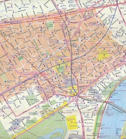 LONDYN ANGLIA PD-WSCH mapa wodoodporna 1:8 000 / 1:300 000  ITMB (4)