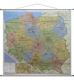 POLSKA 2020 ścienna mapa administracyjno-drogowa 214 x 204 cm EKOGRAF