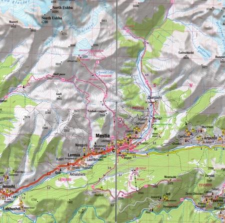 GRUZJA KAUKAZ laminowana mapa turystyczna 1:400 000 EXPRESSMAP 2020 (3)