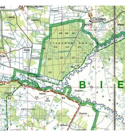 BIEBRZAŃSKI PARK NARODOWY laminowana mapa turystyczna EXPRESSMAP 2020 (2)