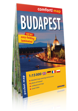 BUDAPESZT kieszonkowy laminowany plan miasta 1:15 000 EXPRESSMAP 2020