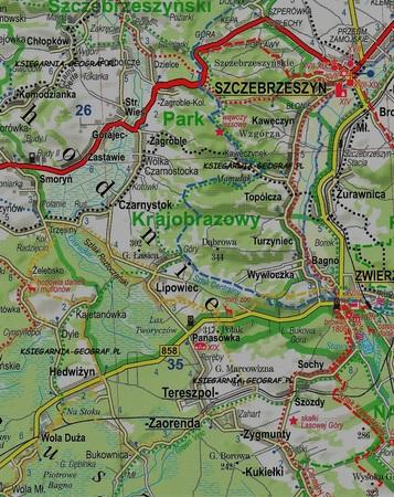 LUBELSZCZYZNA ROZTOCZE POLESIE laminowana mapa turystyczna 1:175 000 EXPRESSMAP 2020 (4)