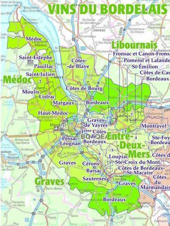 VINS DE FRANCE Regiony Winne Francji ścienna mapa laminowana IGN (4)