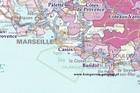 VINS DE FRANCE Regiony Winne Francji ścienna mapa laminowana IGN (3)