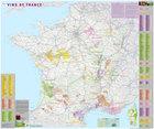 VINS DE FRANCE Regiony Winne Francji ścienna mapa laminowana IGN (1)