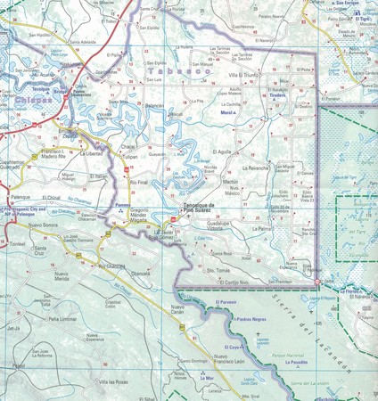 JUKATAN BELIZE GWATEMALA mapa 1:700 000 MICHELIN 2019 (4)
