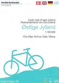 WSCHODNIA JUTLANDIA mapa rowerowa 1:100 000 SCANMAPS 2019