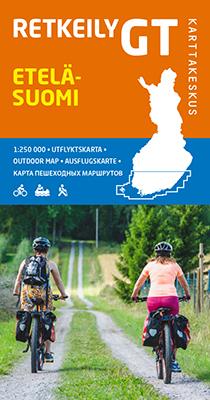FINLANDIA POŁUDNIOWA mapa rowerowa 1:250 000 Karttakauppa 2019