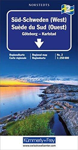 SZWECJA PD GOTEBORG - KARLSTAD mapa 1:250 000 Kummerly+Frey