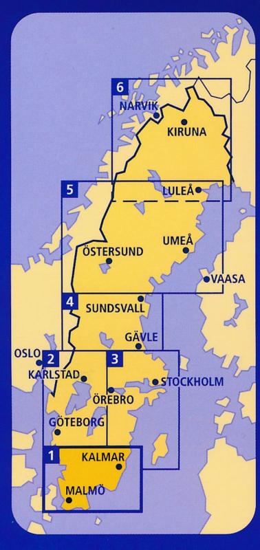 SZWECJA PÓŁNOCNA (Południe)  mapa 1:400 000 Kummerly + Frey (2)