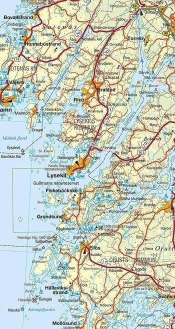 SZWECJA PÓŁNOCNA (Południe)  mapa 1:400 000 Kummerly + Frey (4)