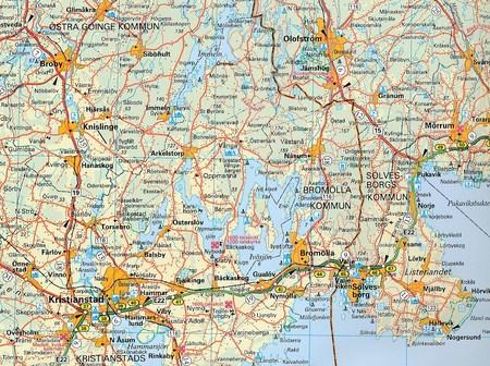SZWECJA PÓŁNOCNA (Południe)  mapa 1:400 000 Kummerly + Frey (6)