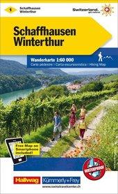 01 - Schaffhausen / Winterthur wodoodporna mapa turystyczna 1:60 000 Kummerly + Frey