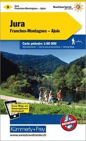 03 - Jura / Franches Montagnes / Ajoie wodoodporna mapa turystyczna 1:60 000 Kummerly + Frey