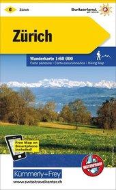 06 - Zürich Zurich wodoodporna mapa turystyczna 1:60 000 Kummerly + Frey