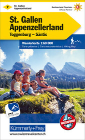 07 - St. Gallen / Appenzellerland wodoodporna mapa turystyczna 1:60 000 Kummerly + Frey