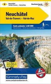 08 - Neuenburg / Val de Travers / Murtensee wodoodporna mapa turystyczna 1:60 000 Kummerly + Frey
