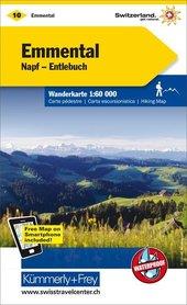 10 - Emmental / Napf - Entlebuch wodoodporna mapa turystyczna 1:60 000 Kummerly + Frey