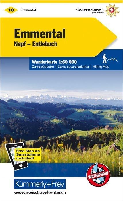 10 - Emmental / Napf - Entlebuch wodoodporna mapa turystyczna 1:60 000 Kummerly + Frey (1)