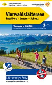 11 - Vierwaldstättersee wodoodporna mapa turystyczna 1:60 000 Kummerly + Frey