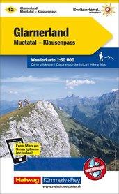 12 - Glarnerland / Muotatal - Klausenpass wodoodporna mapa turystyczna 1:60 000 Kummerly + Frey
