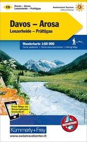 13 - Davos Arosa wodoodporna mapa turystyczna 1:60 000 Kummerly + Frey
