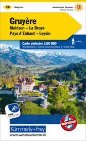 16 - Gruyere wodoodporna mapa turystyczna 1:60 000 Kummerly + Frey