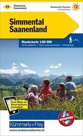 17 - Simmental / Saanenland wodoodporna mapa turystyczna 1:60 000 Kummerly + Frey