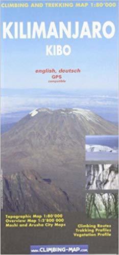 KILIMANDŻARO Moshi & Arusha city mapa trekingowa 1:80 000 CLIMBING-MAP