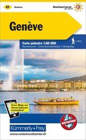 21 - GENEVA wodoodporna mapa turystyczna 1:60 000 Kummerly + Frey
