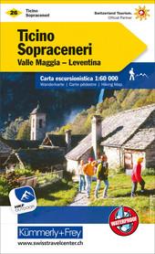 26 - Ticino - Sopraceneri wodoodporna mapa turystyczna 1:60 000 Kummerly + Frey