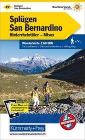 27 - Splügen San Bernardino wodoodporna mapa turystyczna 1:60 000 Kummerly + Frey