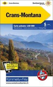 32 - Crans-Montana wodoodporna mapa turystyczna 1:60 000 Kummerly + Frey
